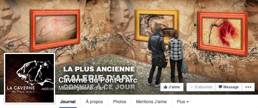 Page Facebook de la Grotte Chauvet